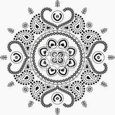 Láminas para decoupage Mandala en blanco y negro...