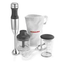 KitchenAid KitchenAid Hand Blender, Contour Silver at Lowe's. The KitchenAid hand blender let's you blend, crush, chop, puree and whisk. Simply choose the appropriate speed for your ingredients. Specialty Appliances, Small Appliances, Kitchen Appliances, Kitchens, Cooking Appliances, Kitchen Tools, Kitchen Gadgets, Kitchen Products, Kitchen Blenders