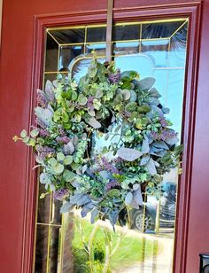 Greenery Wreath, Grapevine Wreath, Lavender Wreath, Mothers Day Wreath, Lambs Ear, Wedding Wreaths, Summer Wreath, Clean Design, Grape Vines