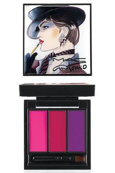 MAC Antonio Lopez Collection: Fuschia lip palette (Candy yum yum, Moxie, Violetta)