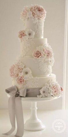 Wedding Cake Inspiration - Cotton & Crumbs