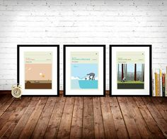 Star Wars Movie Posters Set of Prints Movie Poster by LawandMoore