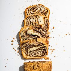 Chocolate Babka The secret to the mesmerizing chocolate swirl in this babka recipe? A double helix twist (don't worry, it's way easier than science class). Chocolate Babka, Chocolate Swirl, Chocolate Filling, Pan Dulce, Strudel, Cheesecakes, Quiche Chorizo, Babka Recipe, Cocoa Cinnamon