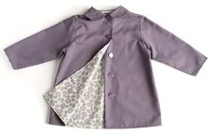 Spring lilac coat for kids Height 86 by kokokoshop on Etsy, $60.00