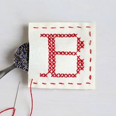"""Part of the #sachetaday project. Cross stitch your own sachet! Slip the lavender-scented sachet into your drawer next to your unmentionables. A great starter project. Each kit contains: • 5"""" wood embr"""