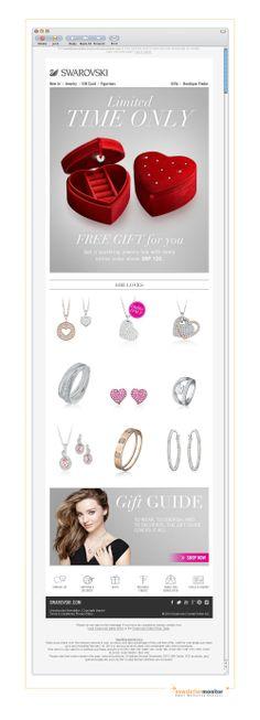 Brand: Swarovki | Subject: A free jewelry box with your Valentine's order