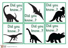 Teacher's Pet - Dinosaur fact cards - FREE Classroom Display Resource - EYFS, KS1, KS2, facts, dinosaurs, lift, flap, facts
