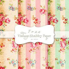 Free vintage Shabby Wrapping/Craft Paper