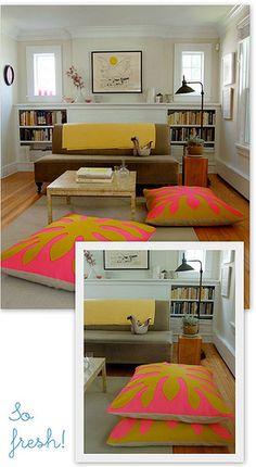 Tivaevae floor cushions - love :)
