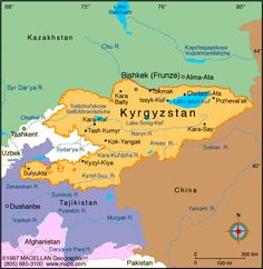 Kyrgyzstan Atlas: Maps and Online Resources | Infoplease.com