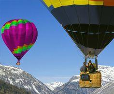 Scenic hot air balloon ride