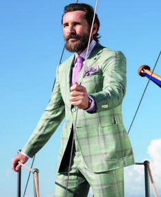 """dresslikea: """"Starting the weekend with a quick look to the spring and summer look book by Italian Isaia - offering quite a bold color and pattern play together with the beautiful landscape of..."""