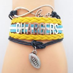 Infinity Love Chargers Football BOGO