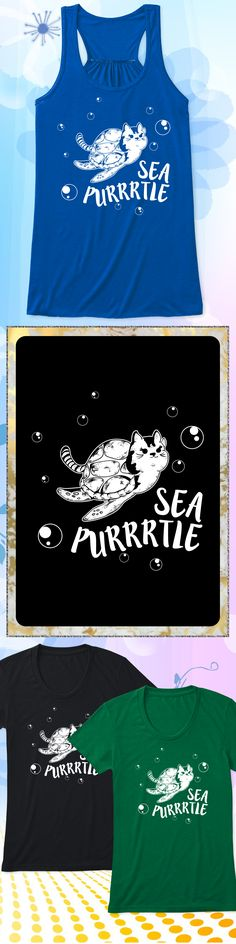 Sea Purrtle - Limited edition. Order 2 or more for friends/family & save on shipping! Makes a great gift!
