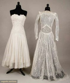 I want to wear a vintage wedding gown- I want to do this all over again in a vintage wedding gown.