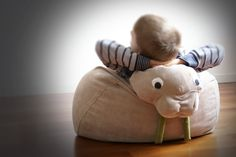 Etsy // A cozy seat for budding marine biologists — the Beige Walrus bean bag.
