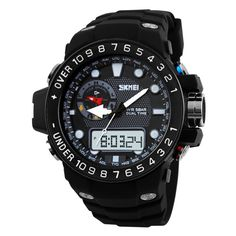 12.48$  Buy here - http://aliod9.shopchina.info/go.php?t=32368341023 - Men Sports Watches Waterproof Relogio Masculino Sport Strap Watches Men Analog Digital led Clock Men Wristwatches Military Watch 12.48$ #shopstyle