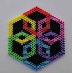 Rainbow Perler Bead Coaster