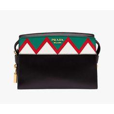e516207e18 Prada 1BH049 Esplanade Saffiano Leather Messengers In Black Prada Handbags