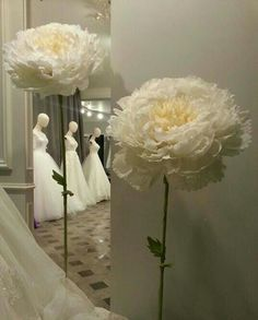 Wedding white Paper flowers