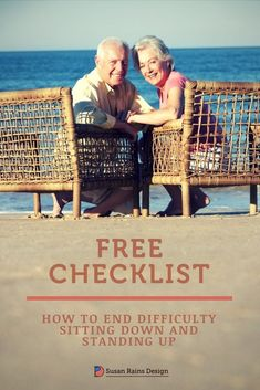 FREE CHECKLIST to shop for a chair or couch that will make sitting and standing more comfortable as you get older.