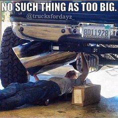 Picked this one for Shannon. She once had a nice big truck! Jacked Up Trucks, Dodge Trucks, 4x4 Trucks, Diesel Trucks, Cool Trucks, Truck Memes, Truck Quotes, Car Jokes, Car Humor