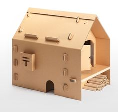 Japanese Company Creates Cardboard Furniture For Kids - via DesignTAXI.com  So many things you can make with corrugated IMPDO.