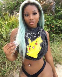 #blackwomen Pokémon... Bunk catching em all....this one will do just fine.