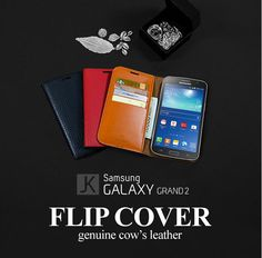 100% made of real genuine cow's leather and hand assembled by experienced craftsmen,  Jacklyn Genuine Cow's Leather Flip Cover for Galaxy Grand 2 offers a top quality protection for your Smartphone.