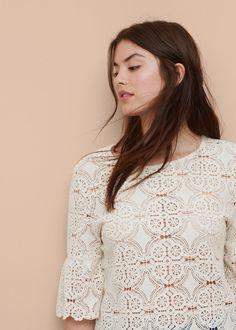 Crochet blouse   VIOLETA BY MANGO