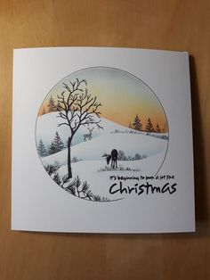 Cardio Cards, Heartfelt Creations Cards, Card Io, Stamping Up Cards, Christmas Paintings, Christmas Illustration, Winter Cards, Card Sketches, Watercolor Cards