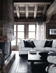 rustic wood + pure white