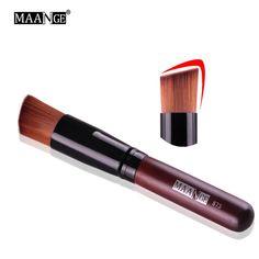 MAANGE 1Pcs Makeup Brush Liquid Power Foundation Concealer Blush Lady Face Make Up Brush Flat Contour Beauty Cosmetic Brush Tool