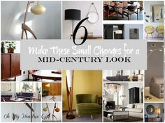 6 Decorating Ideas For The Mid-Century Look | Oh My Heartsie Girl