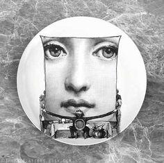Menu I Cavalieri melamine plate by TheMadPlatters on Etsy Polymer Resin, Italian Painters, Italian Artist, Piero Fornasetti, Plate Design, Illustration, Plates, Ceramics, Artists