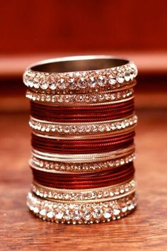 Desi weddings are incomplete without churiyan! Do you prefer matching or contrasting your bangles with your dress?