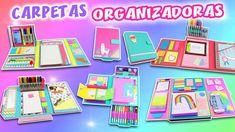 5 DIY CARPETAS ORGANIZADORAS - Folders de Cartón 😜 | Manualidades aPasos Diy Desktop Organizer, Diy Stationery Organizer, Diy Organizer, Diy Crafts For School, Diy Back To School, Desk Organization Diy, Folder Organization, Organizing, Folder Decorado