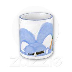 Coffee Mug with the image of Aqua the bunny with sleepy eyes.  Great Easter gift! $15.95