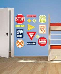 Look at this #zulilyfind! Road Signs Wall Decal Set by WallPops! #zulilyfinds
