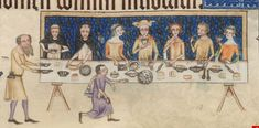 The Luttrell Psalter - SERVER HAS A LONG WHITE TOWEL