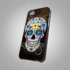 Fancy - Sugar Skull day of the dead - For IPhone 5 Black Case Cover | TheArtOffandi - Accessories on ArtFire