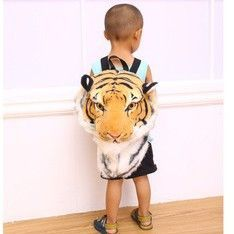 Cool 3D Tiger Head Backpack Cartoon Animal Lion Bags White Women Men Casual Daypacks for Travelling Kids Bags Bolsas Wholesale