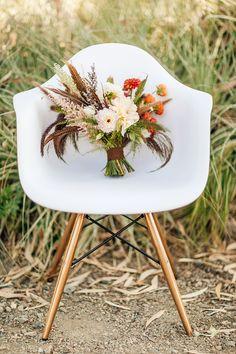 desert bouquet, photo by Olivia Smartt Photography http://ruffledblog.com/bohemian-desert-wedding-with-mid-century-influence #weddingbouquet #flowers