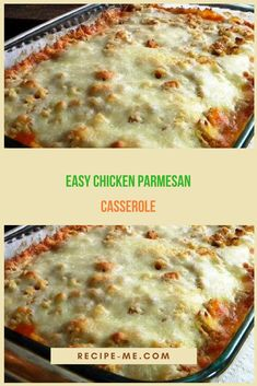 *This Easy Chicken Parmesan Casserole is one of the easiest casserole recipes ever. Zero precooking Easy Chicken Parmesan, Chicken Parmesan Casserole, Make Ahead Chicken Recipe, Ways To Cook Chicken, Hasselback Chicken, Pasta Recipes, Entree Recipes, Chicken Recipes, Cooking Recipes