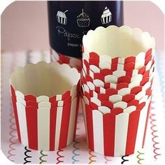Cupcake wrapper from cricut. Would be cute with popcorn in them.