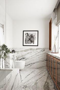 Marmer met zebramotief - badkamer