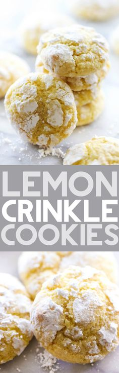 These Lemon Crinkle Cookies are perfect for a light, sweet and refreshing flavor. They are made from scratch and are so soft and delicious! This will become and instant new favorite!