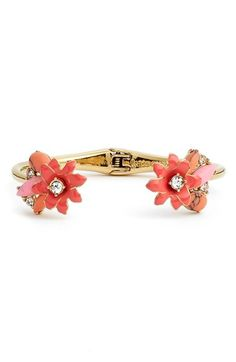 kate spade new york 'glossy petals' hinged cuff available at #Nordstrom