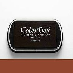 Stempelkissen ColorBox Chestnut Kastanie  von frau zwerg auf DaWanda.com 7,-€