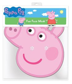 Peppa Pig Mask; Sold Single Approx Size: Height: 11 Inches (28cm) Width: 8 Inches (20cm) Material: Cardboard Mask comes with eye holes and an elastic strap